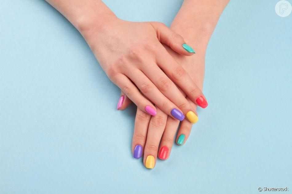 Image result for unhas coloridas