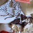 Biquíni de bolinhas usado por Bruna Marquezine é da marca Inamorata,  linha de banho desenhada pela modelo e influencer norte-americana Emily Ratajkowski, e custa R$ 310