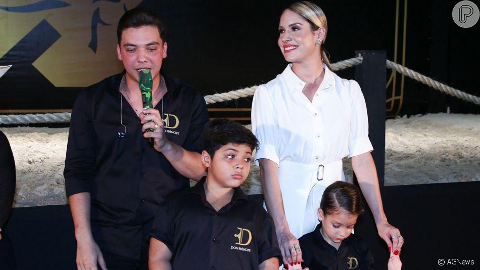 Wesley Safadão e Thyane Dantas levam filhos para leilão de cavalos nesta quinta-feira, dia 05 de setembro de 2019