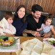 Adriana Sant'Anna já mostrou  momento de cumplicidade entre os filhos
