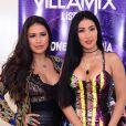 Simone e Simaria usaram look cheio de estilo no VillaMix Lisboa