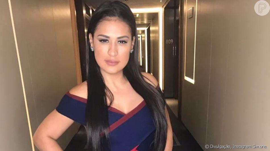 Simone foi comparada a Kim Kardashian durante um evento em Londres neste domingo, 15 de setembro de 2019