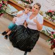 Filho de Zé Neto, da dupla com Cristiano, participou do  chá de lingerie da mãe neste domingo, 22 de setembro de 2019