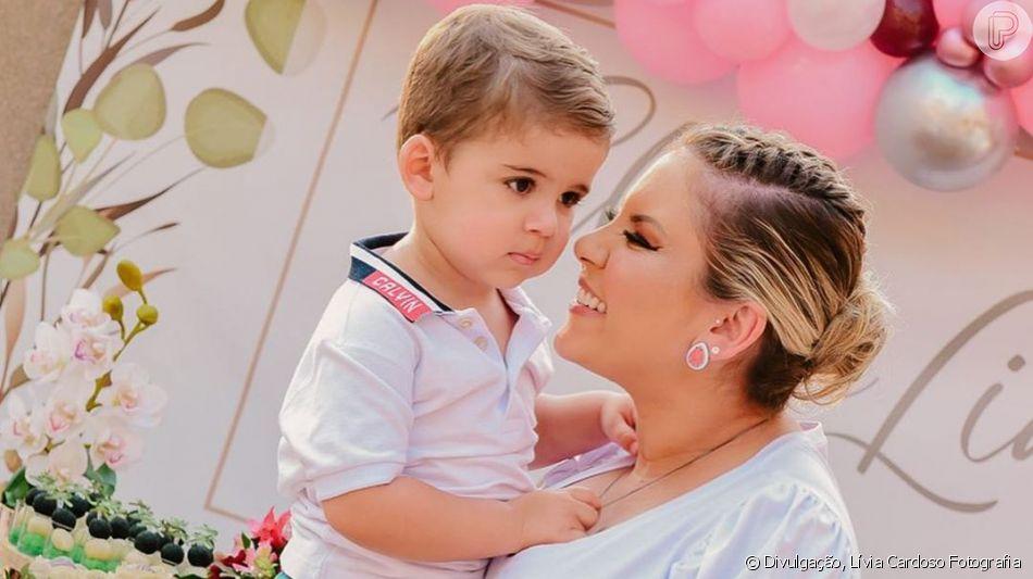 Filho de Zé Neto, da dupla com Cristiano, roubou a cena em  chá de lingerie da mãe,  Natália Toscano,  neste domingo, 22 de setembro de 2019