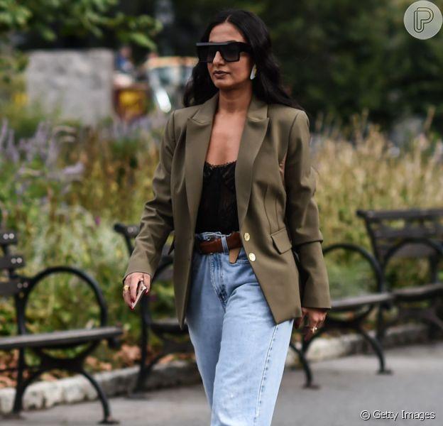 Tá na moda! Calça jeans grandpa conquista fashionistas e é tendência no street style