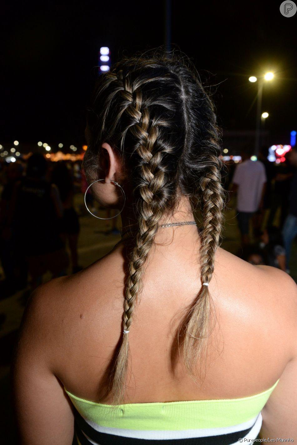 Penteados para festa: trança boxeadora foi queridinha entre quem curtiu os dias de Rock in Rio