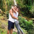 'Natureza é só amor', disse Mariana Goldfarb em foto com Cauã Reymond