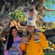 Sertanejo Matheus Aleixo, a mulher, Paula Aires, e filhos, Davi e João Pedro, estão viajando de férias pelo Caribe