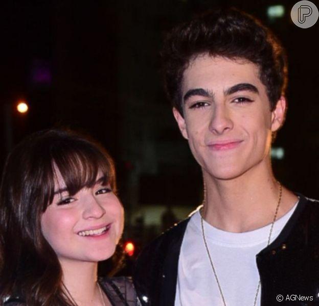 Sophia Valverde levou o namorado, Lucas Burgatti, para gravação do DVD de Thaeme e Thiago, em São Paulo, nesta quarta-feira, 16 de outubro de 2019