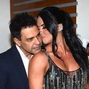 Zezé Di Camargo e a noiva, Graciele Lacerda, trocam carinho em camarim. Fotos!