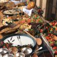 Muitas frutas marcaram presença na mesa do batizado de Eduardo, filho de Luma Costa e Leonardo Martins