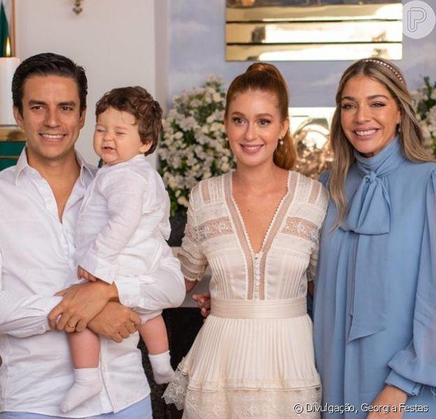 Marina Ruy Barbosa celebra batizado do afilhado, Eduardo, filho de Luma Costa, em 20 de outubro de 2019