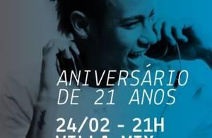 Neymar fecha boate em São Paulo para festejar aniversário de 21 anos