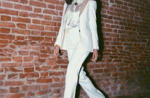 All white! Bruna Marquezine escolhe look monocromático para desfile na Itália