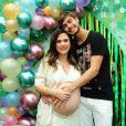 Rafael Vitti e Tatá Werneck se tornaram pais de Clara no dia 23 de outubro