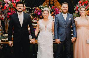 Veja a emoção de Zé Neto em fotos do casamento e os detalhes do vestido de noiva