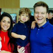 Thais Fersoza se encanta ao ver Michel Teló e filho combinarem look: 'Amores'