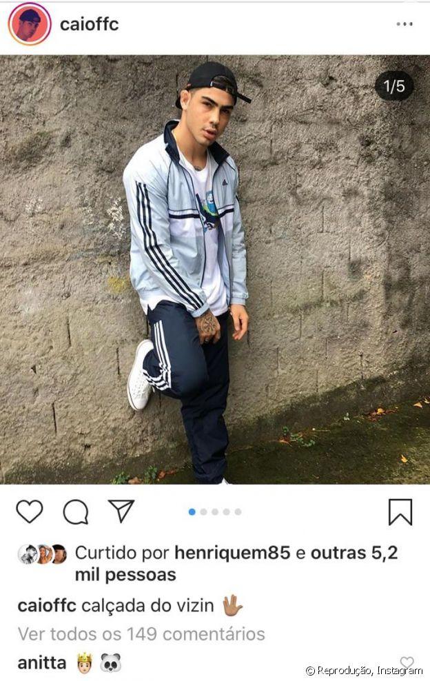 Anitta deixou um comentário fofo no Instagram de Caio Cabral