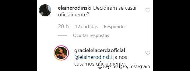 Graciele Lacerda confirma que já se casou com Zezé Di Camargo