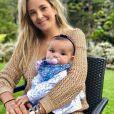 Ticiane Pinheiro falou sobre a rotina com a filha Manuella, de 4 meses
