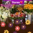Angélica ganha 'mar de flores' por aniversário