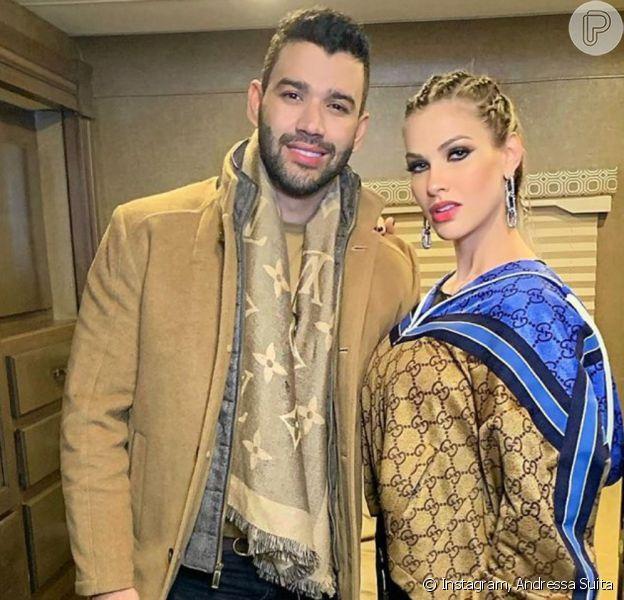 Andressa Suita mostrou o marido, Gusttavo Lima, saindo da dieta nesta segunda-feira, 2 de dezembro de 2019