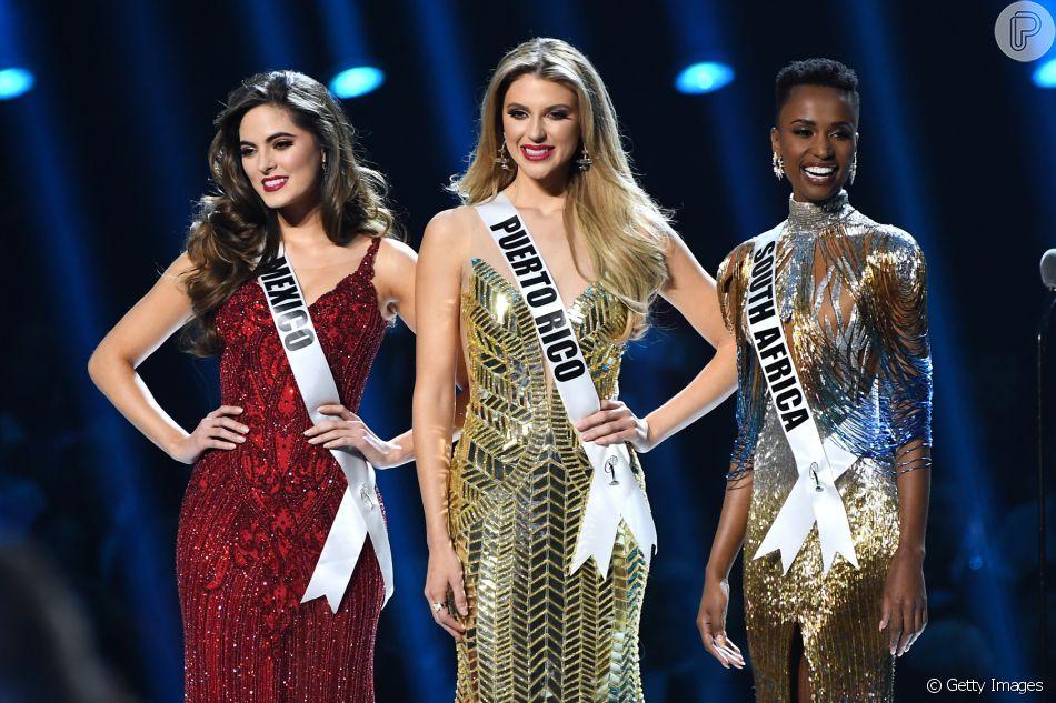 Miss Universo: Miss México Sofía Aragón fica em 3º lugar, Miss Porto Rico Madison Anderson fica em 2º lugar e Miss África do Sul Zozibini Tunzi ganha o programa neste domingo, dia 08 de dezembro de 2019