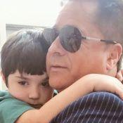 Jéssica Costa mostra reencontro do filho com Leonardo: 'Matando saudade do vovô'