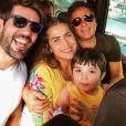 Jéssica Costa reencontrou o pai, Leonardo, no Rio de Janeiro
