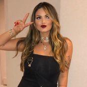 Em Portugal, Suzanna Freitas faz look do dia com all black e meia-calça. Veja!
