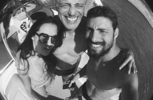 Cauã Reymond recebe visita da família durante filmagens de 'Língua Seca'