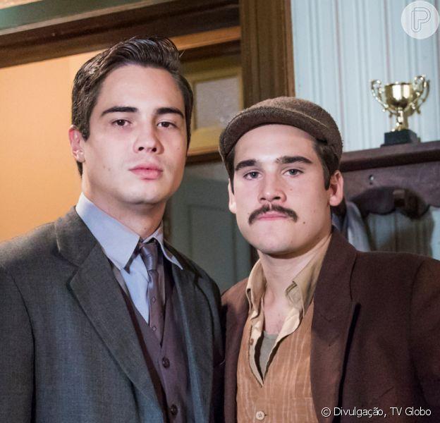 Nos próximos capítulos da novela 'Éramos Seis', Alfredo (Nicolas Prattes) vai se culpar pela morte do irmão Carlos (Danilo Mesquita): 'Não o vi o... Eu me protegi, corri