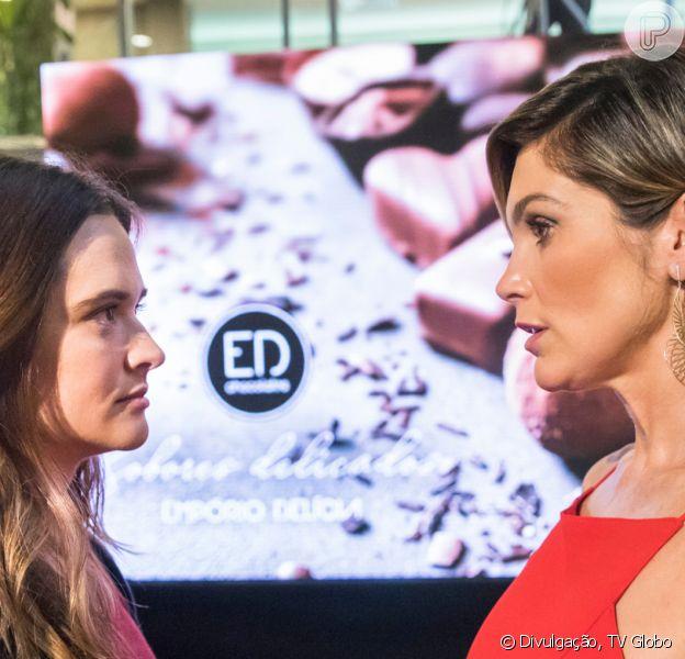 Nos próximos capítulos da novela 'Salve-se Quem Puder', Helena (Flávia Alessandra) volta a destratar a filha, Luna (Juliana Paiva), e exige sua demissão do restaurante