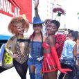 Natallia Rodrigues, Fernanda Paes Leme e Érika Januza  arrasaram no  bloco Casa Comigo, um dos mais populares do Carnaval de São Paulo