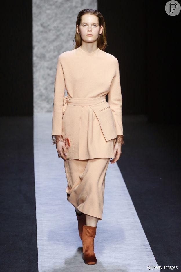 Bota de veludo está em alta no Milan Fashion Week