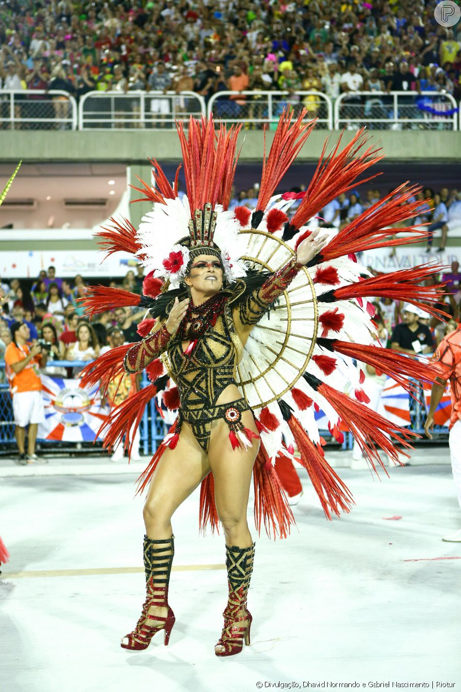 Carnaval 2020: Jack Maia é a rainha de bateria da Estácio de Sá