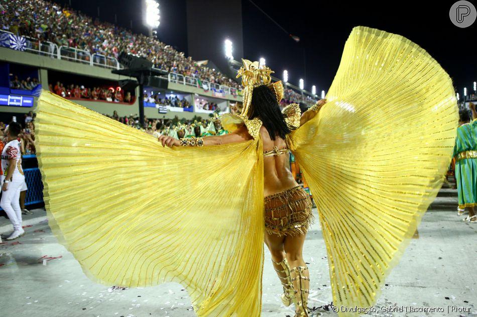 Carnaval de Paolla Oliveira: atriz exigiu que a fantasia não contasse com penas de animais