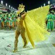Paolla Oliveira desfila pela Grande Rio vestida de Cleópatra