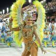 Livia Andrade estreia como rainha de bateria da Paraíso de Tuiuti no Carnaval do Rio de Janeiro
