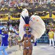 Bianca Monteiro, Rainha de Bateria da Portela, optou por uma fantasia mais ousada e declarou que gostaria de exibir mais o corpo