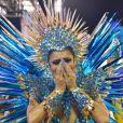 Lexa se emocionou na estreia como rainha de bateria da Unidos da Tijuca no carnaval 2020