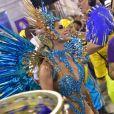 Lexa é rainha de bateria da Unidos da Tijuca, que teve como enredo 'Onde Nascem os Sonhos', no carnaval 2020