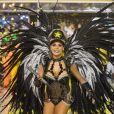 Raphaela Gomes, de 21 anos, é rainha de bateria da São Clemente desde os 15 anos