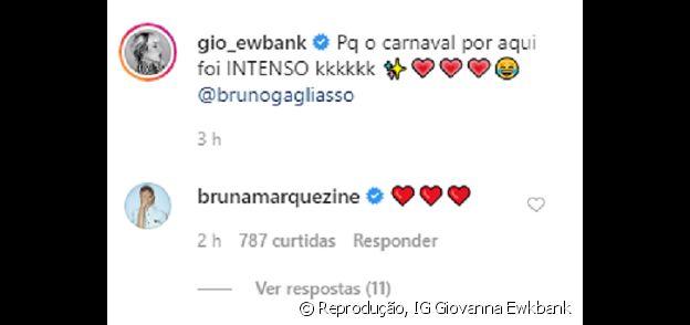 Comentário de Bruna Marquezine