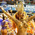 Carnaval de São Paulo: Cintia Mello é rainha de bateria da Acadêmicos do Tucuruvi
