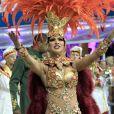 Carnaval de São Paulo: Aline Oliveira, bailarina do 'Domingão do Faustão', é rainha de bateria da Mocidade Alegre