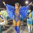 A ex-Panicat Tânia Oliveira estreou neste carnaval como Madrinha de Bateria da Escola de Samba Acadêmicos do Tucuruvi, do Grupo de Acesso do Carnaval Paulistano