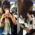 Rafaella Santos mudou de novo! A irmã de Neymar havia clareado os cabelos em setembro, mas voltou a ficar morena e com cachos