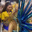 Juliana Alves, ex rainha da Unidos da Tijuca, demonstrou carinho com Lexa