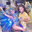 Antes do desfile, Juliana Alves, ex rainha de bateria da Tijuca, conversou com Lexa
